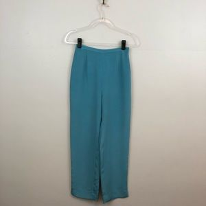 Vintage Cropped Silk High-Rise Pants